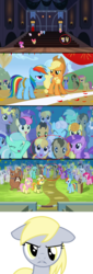 Size: 1280x3765 | Tagged: amber waves, amethyst star, angry, animation error, apple bloom, background pony, background pony audience, berry punch, berryshine, bon bon, bright smile, candy mane, carrot top, castle (crystal pony), cherry berry, cherry cola, cherry fizzy, clones, cloud kicker, coco crusoe, crowd, crystal arrow, crystal beau, crystallized, crystal pony, derpy hooves, doctor whooves, earth pony, edit, elbow grease, female, fleur de verre, golden harvest, ivory, ivory rook, jealous, lemon hearts, linky, lucky clover, lyra heartstrings, male, mare, meadow song, minuette, missing cutie mark, missing horn, multiple heads, one bad apple, orthros, paradise (crystal pony), pegasus, pokey pierce, ponet, ponies sitting next to each other, ponies standing next to each other, pony, rainbowshine, rubinstein, safe, sapphire joy, scootaloo, screencap, seafoam, sea swirl, shipping, shoeshine, sparkler, stallion, sweetie drops, time turner, trade ya, two heads, unicorn, wingless