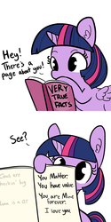 Size: 1280x2560 | Tagged: alicorn, artist:tjpones, book, bronybait, cute, drawing, edit, editor:corpulentbrony, encouragement, facts, female, heck, mare, not creepy, pony, positive ponies, safe, simple background, twilight sparkle, twilight sparkle (alicorn), very true facts, white background, wholesome