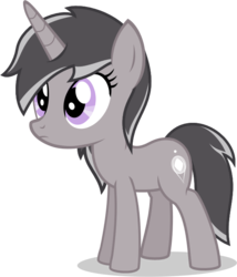 Size: 561x654 | Tagged: artist:logic-is-here, female, filly, oc, oc:lightly, oc only, pony, safe, simple background, solo, transparent background, unicorn, vector