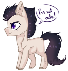 Size: 1280x1346 | Tagged: safe, artist:cloud-fly, oc, earth pony, pony, colt, i'm not cute, male, simple background, solo, white background