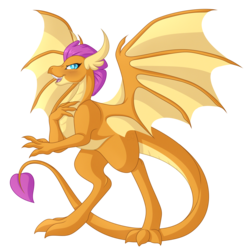 Size: 4764x4770 | Tagged: safe, artist:amazing-artsong, smolder, dragon, absurd resolution, blushing, dragoness, female, open mouth, simple background, smiling, solo, transparent background