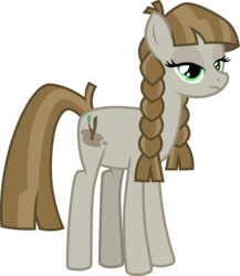 Size: 867x1000 | Tagged: safe, artist:cloudyglow, mudbriar, earth pony, pony, braid, female, mare, mudbramble, rule 63, simple background, solo, transparent background
