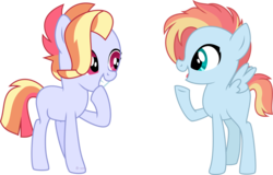 Size: 9008x5767   Tagged: safe, artist:babyroxasman, oc, oc only, oc:jazzy jingles, pegasus, pony, absurd resolution, female, mare, simple background, teenager, transparent background, twins, vector