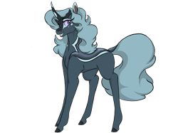 Size: 1024x768 | Tagged: safe, artist:ask-y, oc, oc:masquerade, changepony, hybrid, female, interspecies offspring, offspring, parent:pharynx, parent:trixie, parents:phartrix, simple background, solo, transparent background