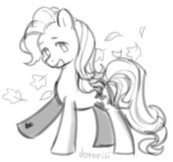 Size: 1062x994   Tagged: safe, artist:dotoriii, autumn skye, earth pony, pony, sketch, solo