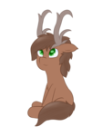 Size: 1500x2000 | Tagged: antlers, artist:eyeburn, cute, deer pony, oc, oc only, oc:ravishing rhapsody, original species, safe, simple background, solo, transparent background