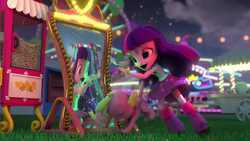 Size: 1920x1080 | Tagged: alicorn, dog, doll, equestria girls, equestria girls minis, fun at the theme park, mirror, safe, spike, spike the dog, theme park, toy, twilight sparkle, twilight sparkle (alicorn), youtube link