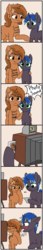 Size: 2369x13782   Tagged: safe, artist:zippysqrl, oc, oc only, oc:lock down, oc:sign, pony, unicorn, blushing, body writing, camera, closed mouth, comic, comic strip, descriptive noise, dialogue, female, glowing horn, height difference, hey!, high res, hoof hold, hoof on cheek, hoof over mouth, looking at camera, looking at you, magic, male, mute, open mouth, photo, polaroid, prank, raised hoof, raspberry noise, simple background, size difference, smaller male, speech, transparent