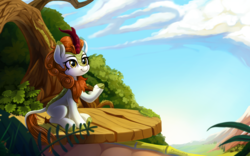 Size: 3890x2432 | Tagged: artist:taneysha, autumn blaze, female, kirin, safe, solo, sounds of silence, spoiler:s08e23