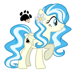 Size: 1501x1473 | Tagged: safe, artist:nightmarye, oc, oc:wallflower, pegasus, pony, cutie mark, female, magical lesbian spawn, mare, offspring, parent:doctor fauna, parent:fluttershy, parents:faunashy, simple background, solo, transparent background