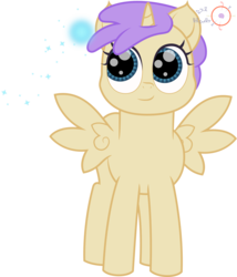 Size: 1715x2000 | Tagged: safe, artist:onil innarin, alula, princess erroria, alicorn, cute, female, filly, signature, simple background, solo, transparent background, vector, wisp