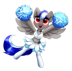 Size: 1705x1681   Tagged: safe, artist:confetticakez, derpibooru exclusive, oc, oc:bassy, pegasus, pony, american football, belly button, bikini, bikini top, boots, carolina panthers, cheering, cheerleader, chest fluff, choker, clothes, collar, crossdressing, cute, ear fluff, excited, femboy, football, male, midriff, nfl, ocbetes, pom pom, shoes, simple background, skirt, socks, solo, sports, stockings, swimsuit, thigh highs, transparent background, trap