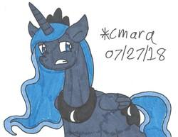Size: 915x706 | Tagged: safe, artist:cmara, princess luna, female, solo, traditional art