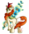 Size: 811x950   Tagged: safe, artist:crystalchan2d, autumn blaze, kirin, sounds of silence, cloven hooves, female, flower, foal's breath, simple background, smiling, solo, transparent background