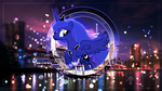 Size: 3840x2160 | Tagged: safe, artist:illumnious, princess luna, alicorn, pony, city, female, mare, new york, new york city, solo