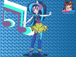 Size: 795x598 | Tagged: safe, artist:user15432, dj pon-3, vinyl scratch, human, equestria girls, rainbow rocks, boots, clothes, dressup, dressup game, glasses, hasbro, hasbro studios, headphones, leggings, ponied up, pony ears, rock and roll, shoes, starsue