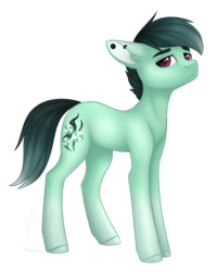 Size: 1441x1800   Tagged: safe, artist:doekitty, oc, oc only, oc:minty dusk, simple background, solo, transparent background