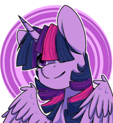 Size: 505x551 | Tagged: alicorn, artist:sketchykohaidraws, eye clipping through hair, female, hair over one eye, mare, pony, safe, simple background, solo, transparent background, twilight sparkle, twilight sparkle (alicorn)