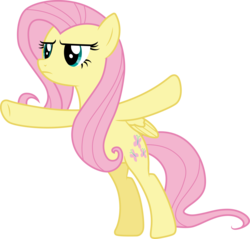 Size: 3136x3000 | Tagged: safe, artist:cloudyglow, fluttershy, pegasus, pony, do princesses dream of magic sheep, female, mare, simple background, solo, t pose, transparent background, vector