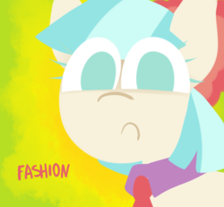 Size: 650x600 | Tagged: safe, artist:alittleofsomething, coco pommel, earth pony, pony, fashion, female, lineless, mare, solo