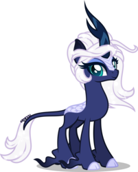Size: 5000x6205 | Tagged: absurd res, artist:orin331, cloven hooves, female, kirin, kirin-ified, princess luna, safe, simple background, solo, sounds of silence, species swap, transparent background, unshorn fetlocks