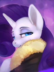 Size: 820x1100 | Tagged: artist:rodrigues404, bomber jacket, clothes, female, jacket, looking at you, looking back, looking back at you, mare, pony, rarity, safe, solo, unicorn