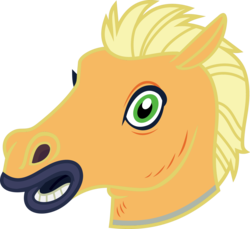 Size: 4000x3671 | Tagged: safe, artist:luckreza8, color edit, edit, applejack, scare master, colored, hoers mask, looking at you, mask, simple background, transparent background, vector