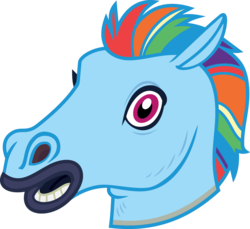 Size: 4000x3671 | Tagged: safe, artist:luckreza8, color edit, edit, rainbow dash, scare master, colored, hoers mask, looking at you, mask, simple background, transparent background, vector