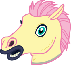 Size: 4000x3671 | Tagged: safe, artist:luckreza8, color edit, edit, fluttershy, scare master, colored, hoers mask, looking at you, mask, simple background, transparent background, vector
