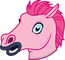 Size: 4000x3671 | Tagged: safe, artist:luckreza8, color edit, edit, pinkie pie, scare master, colored, hoers, hoers mask, looking at you, mask, simple background, transparent background, vector