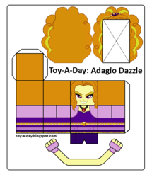 Size: 600x699 | Tagged: safe, artist:grapefruitface1, adagio dazzle, equestria girls, rainbow rocks, arts and crafts, craft, female, papercraft, printable, toy a day
