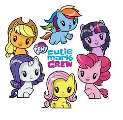 Size: 1440x1400 | Tagged: safe, applejack, fluttershy, pinkie pie, rainbow dash, rarity, twilight sparkle, cutie mark crew, female, happy meal, mane six, mane six opening poses, mcdonald's, mcdonald's happy meal toys, my little pony logo, toy