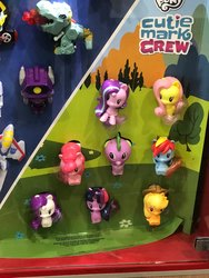 Size: 1536x2048 | Tagged: safe, applejack, fluttershy, pinkie pie, rainbow dash, rarity, spike, starlight glimmer, twilight sparkle, clash of hasbro's titans, cutie mark crew, happy meal, mcdonald's, mcdonald's happy meal toys, toy, united states