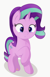 Size: 1248x1920 | Tagged: artist:badponyvectors, chest fluff, cutie mark, female, mare, :o, open mouth, pony, raised hoof, safe, simple background, solo, starlight glimmer, unicorn, white background
