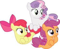 Size: 3629x3000 | Tagged: .ai available, apple bloom, artist:cloudyglow, cute, cutie mark crusaders, female, filly, hnnng, safe, scootaloo, sea-mcs, seaponified, seapony apple bloom, seapony (g4), seapony scootaloo, seapony sweetie belle, simple background, smiling, species swap, surf and/or turf, sweetie belle, transparent background, vector