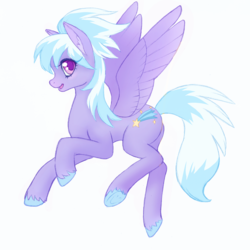 Size: 1199x1200 | Tagged: anonymous artist, beautiful, cloudchaser, colored hooves, colored pupils, ear fluff, female, flying, frog (hoof), looking at you, mare, open mouth, pegasus, pony, profile, safe, simple background, smiling, solo, spread wings, underhoof, unshorn fetlocks, white background, wings