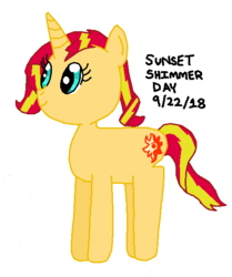 Size: 482x576 | Tagged: alternate version, artist:nightshadowmlp, safe, smiling, solo, sunset shimmer, sunset shimmer day