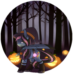 Size: 969x979 | Tagged: artist:ak4neh, clothes, commission, female, halloween, hat, holiday, jack-o-lantern, looking at you, mare, oc, oc:alpha jet, oc only, pegasus, pony, pumpkin, safe, smiling, solo, witch, witch hat