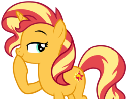 Size: 6368x5003   Tagged: safe, artist:andoanimalia, sunset shimmer, pony, unicorn, equestria girls series, forgotten friendship, absurd resolution, cutie mark, female, looking back, simple background, smirk, solo, transparent background, vector