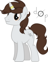 Size: 2511x3247 | Tagged: artist:duskthebatpack, commission, horn ring, male, oc, oc:metronome circuit, pony, safe, simple background, solo, stallion, transparent background, unicorn, vector