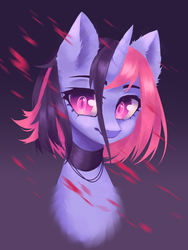 Size: 1241x1652 | Tagged: artist:hikerumin, bust, commission, cute, female, looking at you, oc, oc only, oc:tally daze, pony, portrait, safe, solo, ych result