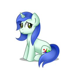 Size: 1500x1500 | Tagged: artist:daromius, female, mare, oc, oc:starmint prism, pony, safe, simple background, sitting, solo, transparent background, unicorn