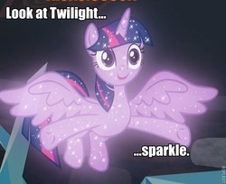 Size: 626x512   Tagged: safe, edit, edited screencap, screencap, tree of harmony, alicorn, pony, what lies beneath, cropped, female, image macro, implied twilight sparkle, mare, meme, name pun, pun, rimshot, sparkles, treeabetes, treelight sparkle, treelightbetes, twilight sparkle (alicorn)