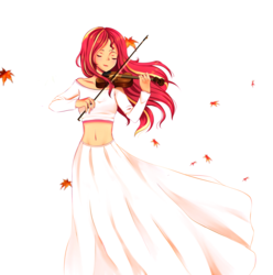 Size: 3820x3850 | Tagged: artist:electricshine, beautiful, belly button, bow (instrument), clothes, dress, equestria girls, eyes closed, female, human, humanized, midriff, safe, shirt, simple background, sunset shimmer, sunset shimmer day, violin, white background