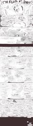 Size: 1400x5204 | Tagged: safe, artist:sunibee, part of a set, applejack, discord, fluttershy, pinkie pie, rainbow dash, rarity, spike, starlight glimmer, twilight sparkle, oc, oc:anon, alicorn, draconequus, human, pegasus, pony, comic:the never-ending story, comic, cup, dialogue, female, fluttershy's cottage, food, hug, lidded eyes, lineart, mane seven, mane six, mare, monochrome, saucer, speech bubble, tea, teacup, twilight sparkle (alicorn)