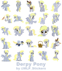 Size: 364x418 | Tagged: artist:mlpcreativelab, derpy hooves, pony, safe, simple background, telegram sticker