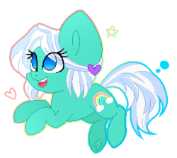 Size: 311x278 | Tagged: safe, artist:mintoria, oc, oc only, oc:tickle, earth pony, pony, chibi, female, mare, pixel art, simple background, solo, transparent background