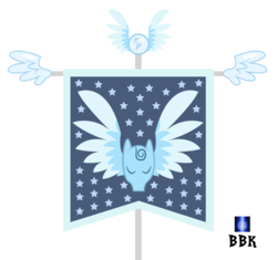 Size: 2399x2257 | Tagged: artist:bb-k, eyes closed, flag, hanging banner, hearth's warming eve (episode), no pony, object, pegasopolis, pegasus, pegasus tribe, safe, simple background, transparent background
