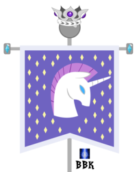 Size: 1829x2257 | Tagged: artist:bb-k, crown, flag, hanging banner, hearth's warming eve (episode), jewelry, no pony, object, regalia, safe, simple background, transparent background, unicorn, unicornia, unicorn tribe