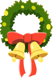 Size: 5630x8192 | Tagged: absurd res, .ai available, artist:mewtwo-ex, bell, bow, christmas wreath, hearth's warming eve, hearth's warming eve (episode), no pony, resource, safe, simple background, transparent background, vector, wreath